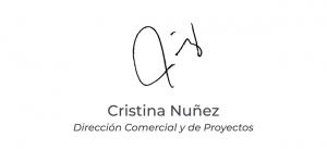 Firma de Cristina Nuñez, Directora Comercial y de Proyectos - ATBEY