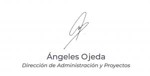 Firma de Ángeles Ojeda, Director de Administración y Proyectos - ATBEY